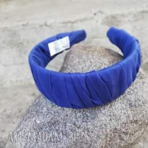 handmade ozdoby do włosów niebieska opaska