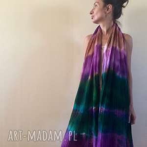 handmade szaliki energetyczny ręcznie barwiony miękki wełniany szal