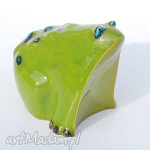 Żabcia puszysta - ,figurki,zwierzęta,ceramika,dekoracja,