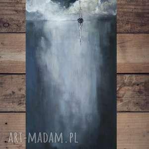 samotna łódź-obraz akrylowy formatu 30/60 cm, obraz, łódź, morze, akryl