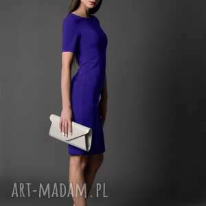 rahri sukienka klasyczna, / chaberowa 42 xl esther, etui, dopasowana, ołówkowa