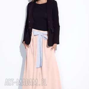 Bien Fashion Długa różowa spódnica do kostek na lato L, długa, maxi, szeroka
