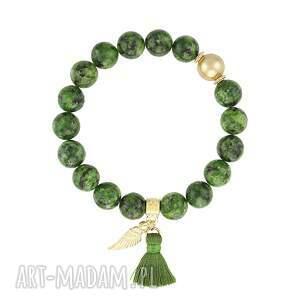 bransoletka z jadeitów - boho lavoga - święta minerały