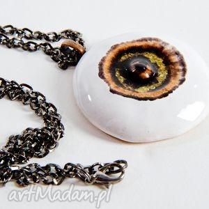 trzecie oko - brown eye wisior naszyjnik