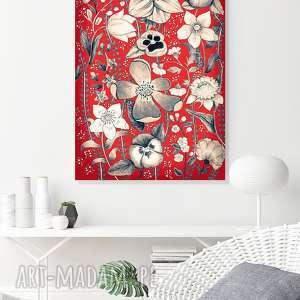 Kwiaty 50x70cm, plakat, plakaty, grafika, sztyka, kwiaty, kwiat