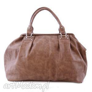 torba damska, kuferek paris 10-09 taupe, kuferek, do ręki, codzienny, pracy