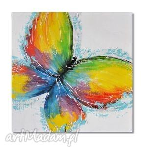 Motyl, nowoczesny obraz ręcznie malowany, obraz, motyl, nowoczesny, ręcznie, malowany