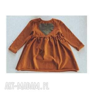 sukienka dziewczęca karmelowa, dla dziecka, dziewczynki