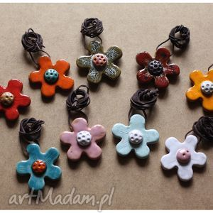 Wisior kwiatek, wisior, ceramika, kwiat