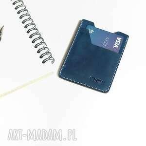 ręcznie wykonane portfele minimalistyczny portfel skórzany szyty
