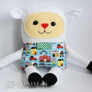 radosna owieczka - piotrek - 38 cm - owieczka, zabawka, chłopczyk, maskotka