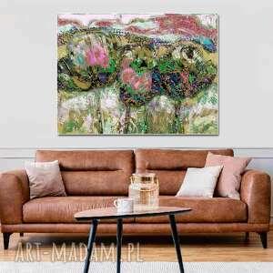 obraz polne kwiaty 120 x 80, krajobraz do salonu, dekoracja ścienna sypialni