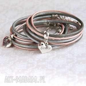 dla siostry silver pink - na prezent, siostra, siostry, święta, mikołajki