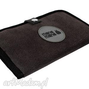 portfele portfel mana #5, portfel, czarny, przecierany, mana
