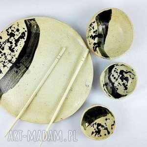 Prezent Komplet ceramiczny, talerz, kuchnia, ceramika, patera, dekoracja, prezent