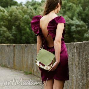 mini bambi - mała torebka kwiaty i zieleń, mała, wygodna, praktyczna