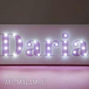 hand made pokoik dziecka napis led neon twoje imię personalizowany prezent urodziny roczek