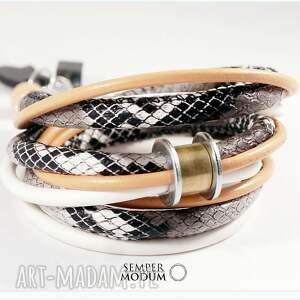 trio wąż c, bransoletka, wężowa, naszyjnik, modna, nowoczesna
