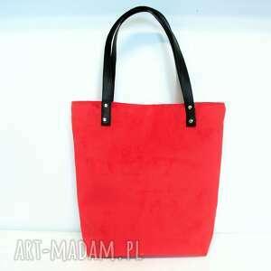 Shopper bag, czerwona, piękna, wygodna