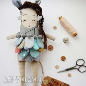 monsterówna jasira - lalka z tkanin handmade, zabawka szmacianka, prezent dla dziecka