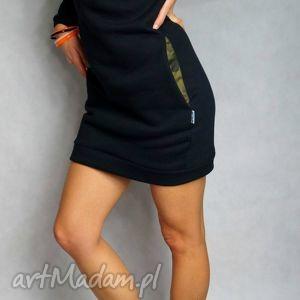 sukienka/tunika camo - m/l, dresowa, tunika, sukienka, kieszenie, moro, ciepła