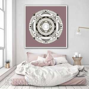 Mandala 50x50cm, grafika, plakat, mandala