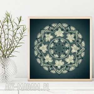 mandala 50x50mcm, grafika, plakat, mandala, obraz, sztuka, unikalne