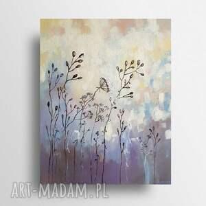 bajkowa łąka-obraz akrylowy formatu 40/50 cm, pejzaż, akryl, obraz, łąka, płótno