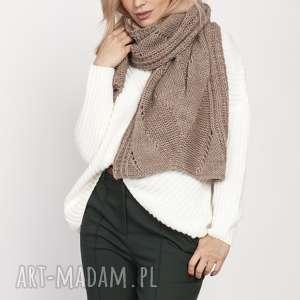 Dzianinowy szal, szal001 mocca mkm szaliki swetry szalik, ciepły