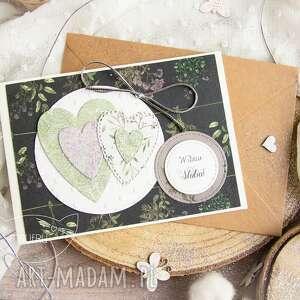 patchworkowe serca kartka ślubna, miłosna, serca, ślub, dla zakochanych, miłość