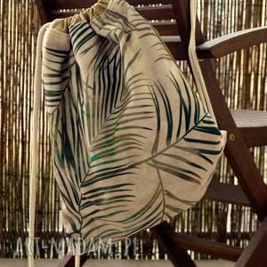 Plecak worek happyart plecak, palmy, motyw florystyczny, worek
