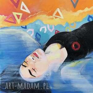 obraz olejny 40x40 matka mórz i oceanów, olejny, dekoracja ścienna, morze