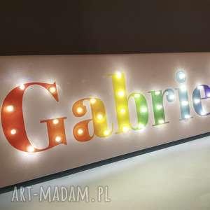 ręcznie zrobione pokoik dziecka napis led neon twoje imię personalizowany prezent