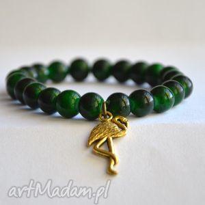 bracelet by sis flaming w mozaikowych koralach, charms, złoto, zawieszka, korale