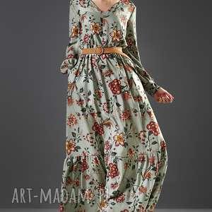suknia maxi w kwiaty paloma, sukienka, kwiatowa, maxi, kobieca, orient, wiskoza