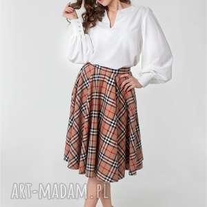 handmade spódnice spódnica z koła kieszenie podszewka krata burberry rozm od 34 do 42