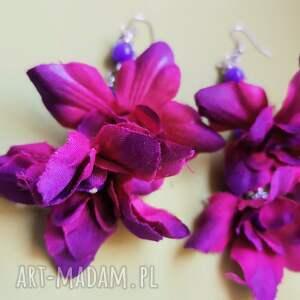 kolczyki kwiatowe lekkie podwójne polecam box k1, kolczyki, boho, róże