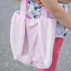 torba - królik różowa, torebka, królik, dziewczynka, uszy