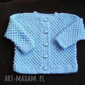 sweterek bąbelek, sweterek, włóczka, rękodzieło, niemowlę, prezent, rozpinany