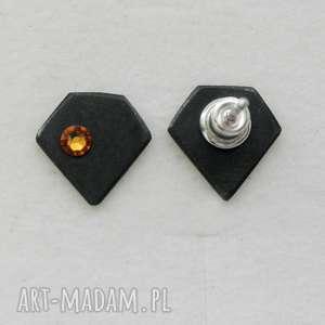 ręcznie zrobione kolczyki diament kolczyki