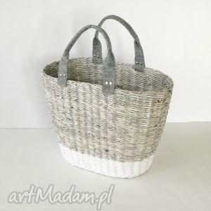 torba gray white, koszyk torebki, wyjątkowy prezent