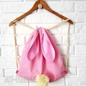 PLECAK WOREK- KRÓLICZEK, plecak, worek, przedszkolak, torba, króliczek,