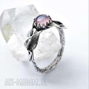 dziki krolik pierścień pnącze, agat, srebro, minerały, miłośnik natury
