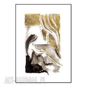 cykl kobieta w oknie - okno iii, ręcznie malowane, grafika, złocenia