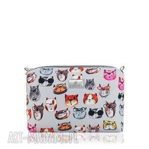 Kosmetyczka farbaby 2059 koty szare kosmetyczki farbotka ręcznie
