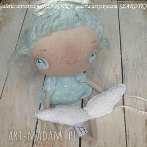 handmade dekoracje aniołek lalka - dekoracja tekstylna, seria cute angel, ooak