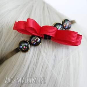 ozdoby do włosów opaska - folkowa, wstążka metalowa, brąz, opaska