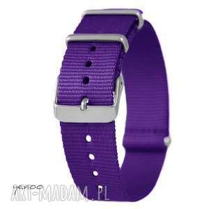 zegarki pasek do zegarka - nato, nylonowy, fioletowy, pasek, zegarek, nato