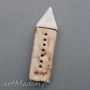 domek-broszka ceramiczna - prezent, upominek, minimalizm, skandynawski, urodziny, imieniny