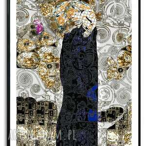 grafika w ramie poszukiwanie miłości 60x80, kobieta, postać, romantyczne
